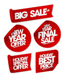 Massive winter sale design with shopping bag. Stock Photos