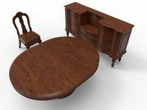 Massive wood furniture Stock Photo