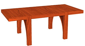 Massive wood table Royalty Free Stock Photo
