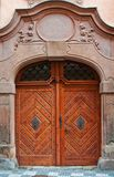 Massive wooden door Royalty Free Stock Image