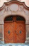 Massive wooden door Royalty Free Stock Image
