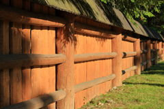 A massive wooden fence Stock Images