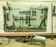 Massive wrenches and tools Stock Photos