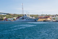 Massive Yacht in Curacao Royalty Free Stock Photo
