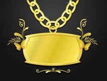 massivt settecken för chain guld Arkivfoton