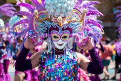 Masskara Festival. Bacolod City, Philippines. 2015 stock photo
