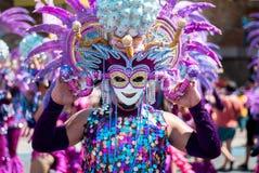Masskara festival Bacolod stad, Filippinerna Arkivfoto