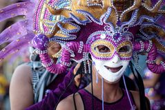 Masskara festival Bacolod stad, Filippinerna Fotografering för Bildbyråer