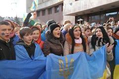 Massmöte mot ukrainsk regering Royaltyfria Foton