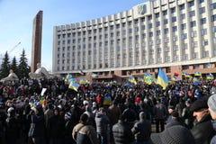 Massmöte mot ukrainsk regering Arkivbild