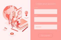 Massmedia bokar arkivet, online-prov, vektor illustrationer