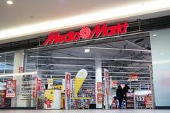 Massmedia Markt Arkivfoto