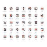 Massmedia- och advertizingsymboler vektor illustrationer