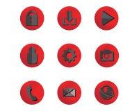 Massmedia och cell- musik för telefon noterar symbollogo och symbolstempl stock illustrationer