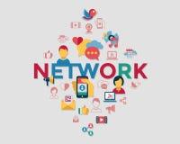 Massmedia och kommunikation för Digital vektor socialt vektor illustrationer