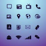 Massmedia och kommunikationssymboler Royaltyfria Bilder