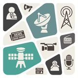 Massmediabakgrund royaltyfri illustrationer