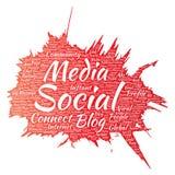 Massmediaknyta kontakt eller kommunikation för vektor socialt Royaltyfri Fotografi