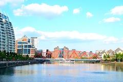 massmediastad UK, Salford kajer, Manchester, UK Fotografering för Bildbyråer