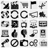 Massmedia och kommunikationssymboler. Royaltyfri Fotografi