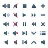Massmediasymboler, vektorillustration Arkivfoto