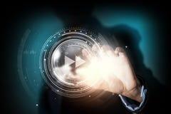 Massmediateknologier i våra händer Arkivfoto