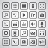 Massmediaunderhållningsymbol Arkivbilder