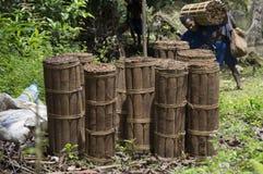 Massoia Wood Bundles Stock Photo
