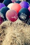 Massor av ballonger för ett piratkopieraparti foto Arkivfoton