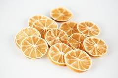 Massor av citronskivor Arkivfoton