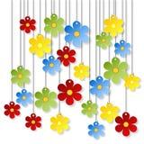 Massor av färgrika blommor Arkivbilder