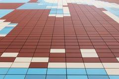 Massor av färgrika rektanglar Arkivfoton