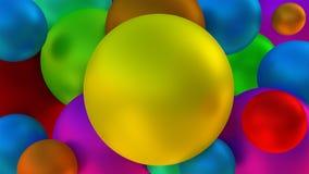 Massor av glansig tolkning för bollar 3D Fotografering för Bildbyråer