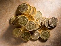 Massor av guld- mynt Royaltyfri Fotografi