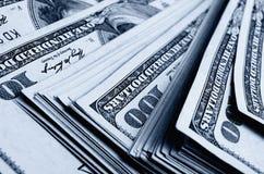 Massor av hundra av dollarräkningar Royaltyfri Fotografi