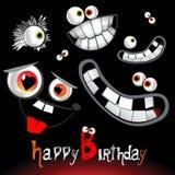 Massor för lycklig födelsedag av leenden royaltyfri illustrationer