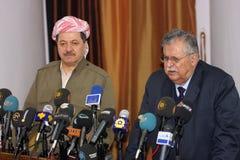 Massoud Barzani e Talabani Immagine Stock Libera da Diritti