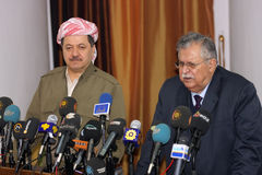 Massoud Barzani and Talabani Royalty Free Stock Image