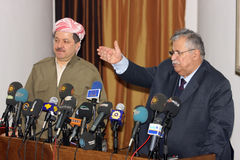 Massoud Barzani und Jalal Talabani lizenzfreies stockfoto
