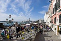 Massturism i venice, Italien Arkivbilder