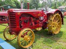 Massy-Harris Model 55 Farm Tractor. This Massey-Harris Model 55 farm tractor came with steel wheels Stock Photos
