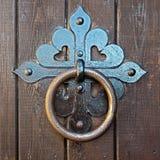 Massy iron door knocker Royalty Free Stock Photography