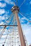 Mast. Upwards view of a ship's masts Stock Photos