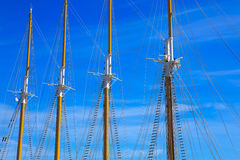 Mast against blue summer sky. Yacht mast against blue summer sky Stock Image
