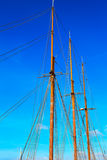 Mast against blue summer sky. Yacht mast against blue summer sky Stock Photos