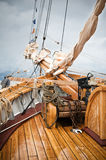 Mast of an ancient sailing vessel Royalty Free Stock Images