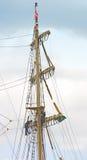 Mast av den gammala seglingshipen Royaltyfri Fotografi