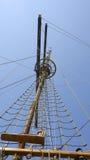 Mast av en segelbåt i Dubrovnik Royaltyfri Fotografi