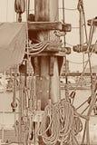 Mast av en ship Arkivbilder