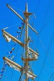 Mast av ett seglingskepp Royaltyfria Foton